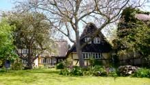 troense svendborgsund house garden trees water sky sun houses