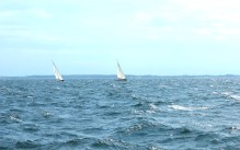troense svendborgsund boats water sky sun houses