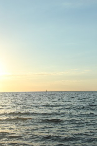 hundested seeland denmark sunset coast