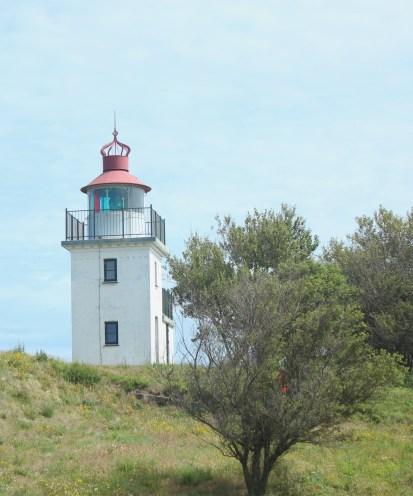 hundested seeland denmark sunset coast lighthouse bushes sky