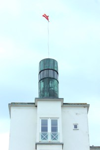 Hornbaek Denmark coast harbour boat towel sky boatingthebaltic.com