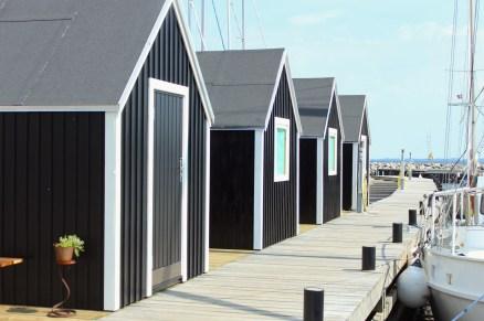 marina black huts denmark lundeborg
