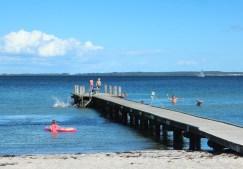beach blau jetty denmark lundeborg