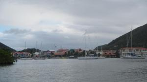 Rodney Bay marina mooring field in the lagoon