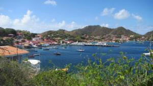 picture of les saintes village from hill