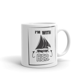 I'm With HER Cutter Mug (white)