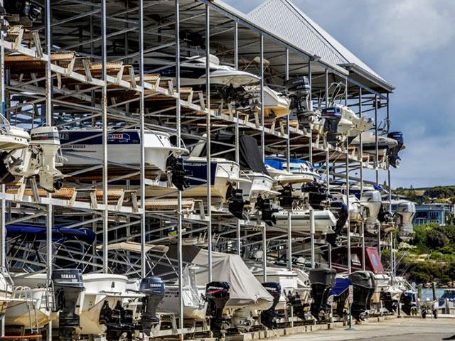 marine boat rack storage systems