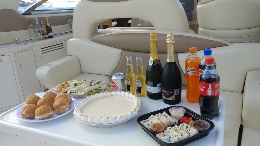 SeaRay Yacht menu