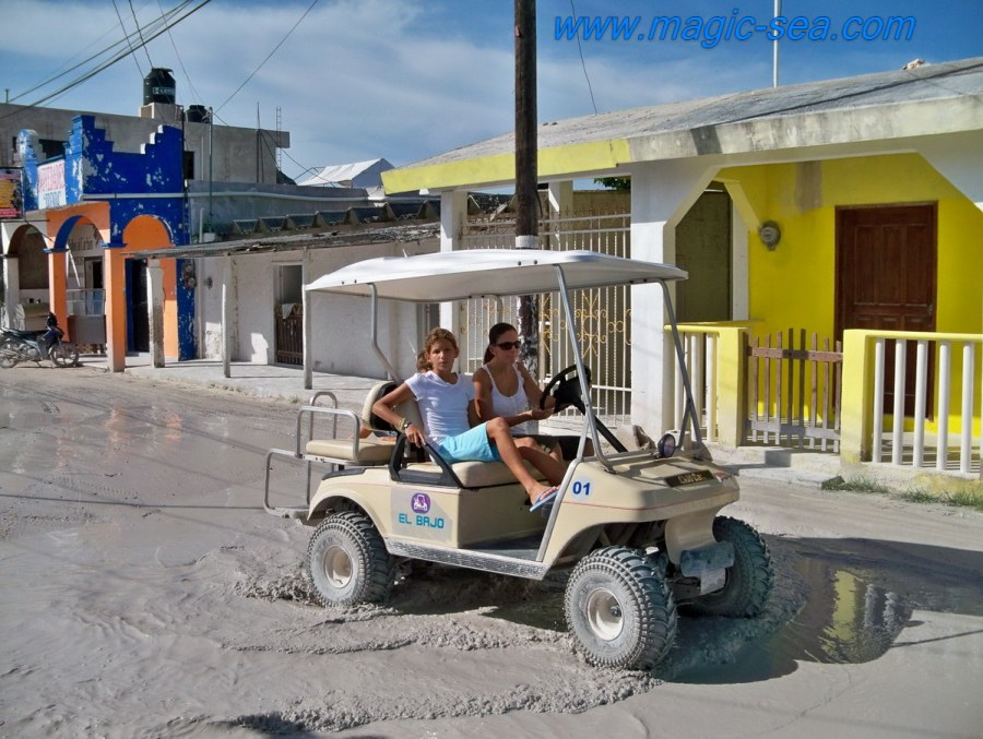 Holbox golf cart