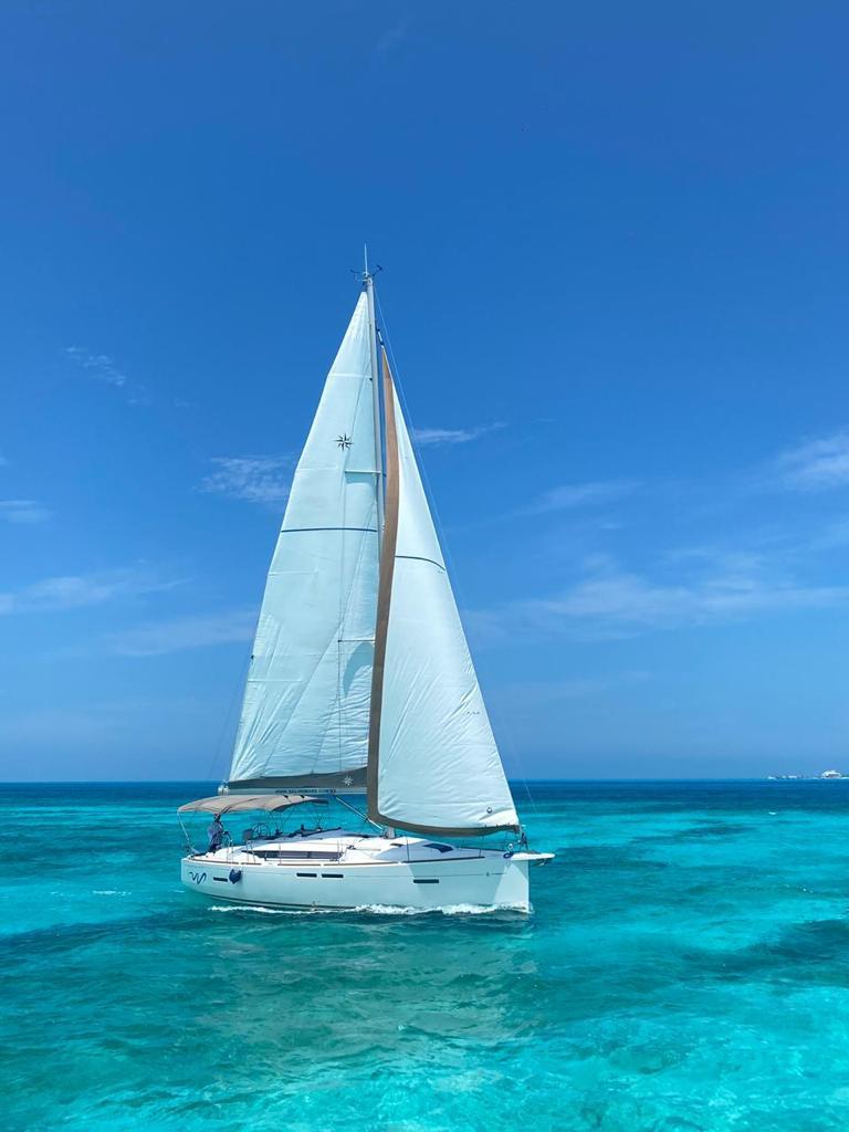 Sun Odyssey Jeanneau sailboat aereal