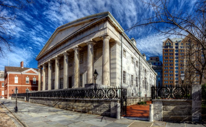 Second Bank of the United States Independence National Historical Park 400 Block of Library Street Philadelphia, PA Copyright 2017, Bob Bruhin. All rights reserved. (prints via bruhin.us/R2)