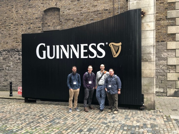 Peter, Ian, myself, and Alx at the Guinness Storehouse in Dublin.