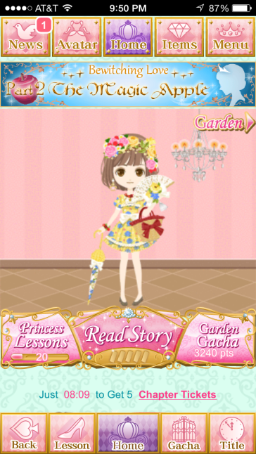 A picture of my character wearing the event outfit.