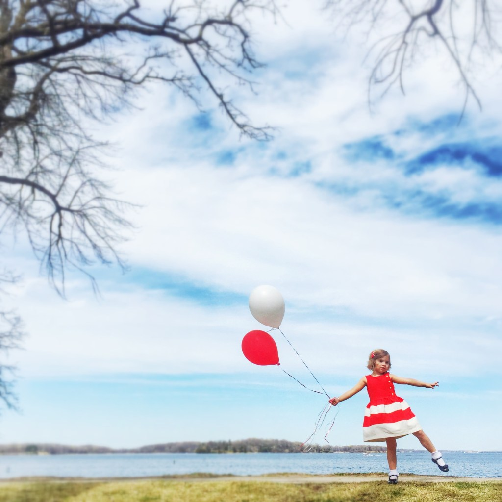 Little Girl & Balloons
