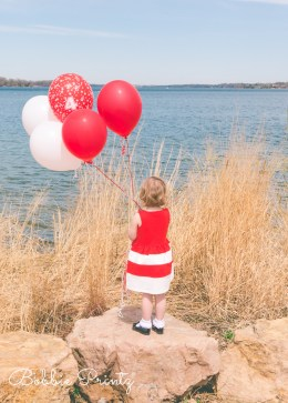 Girl Red Balloons Excelsior Minneapolis Minnesota Photographer