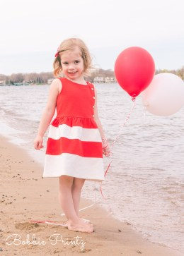 Girl Red Balloons Beach Excelsior Minneapolis Minnesota Photographer