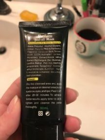 black purifying peel-off mask