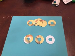 Softball theme washer cover