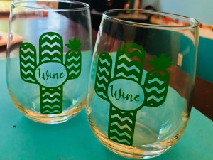 Cactus Wine Glass Set