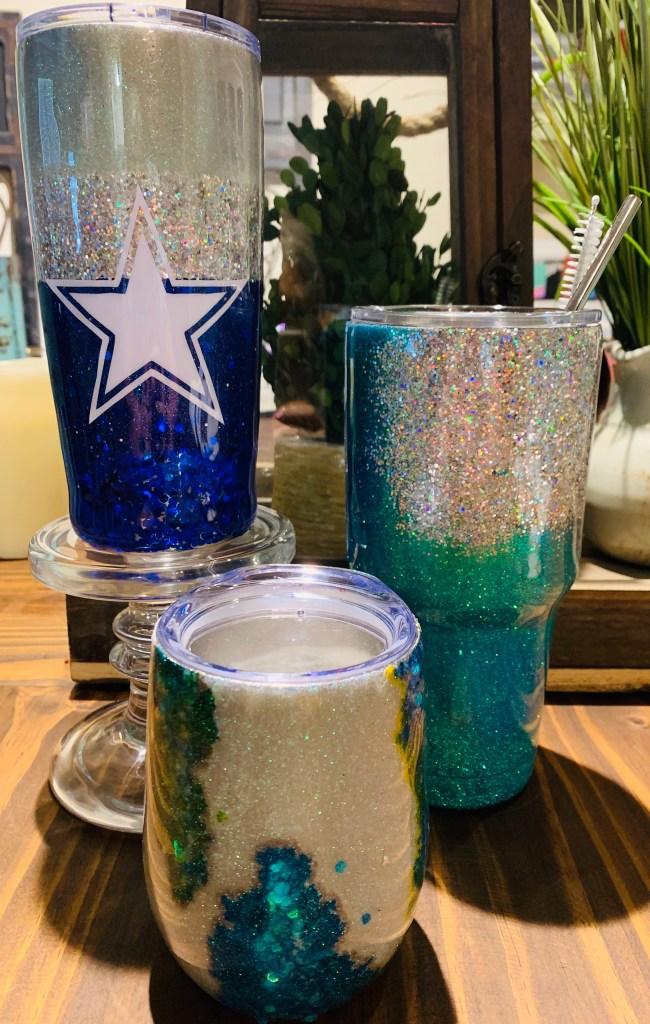 Cowboy, Geode, and Glitter Tumbler