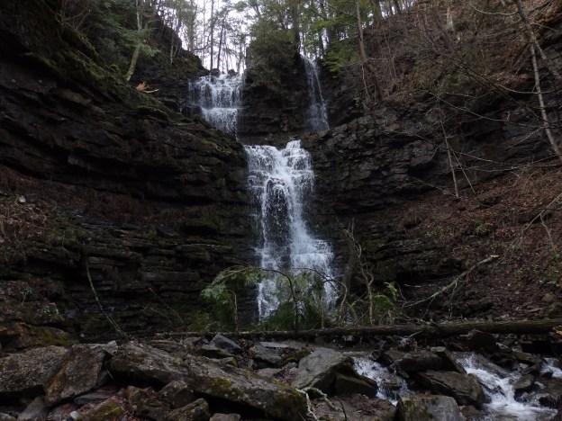 Chittenango Falls State Park, Chittenango Sister Falls, Madison County, New York
