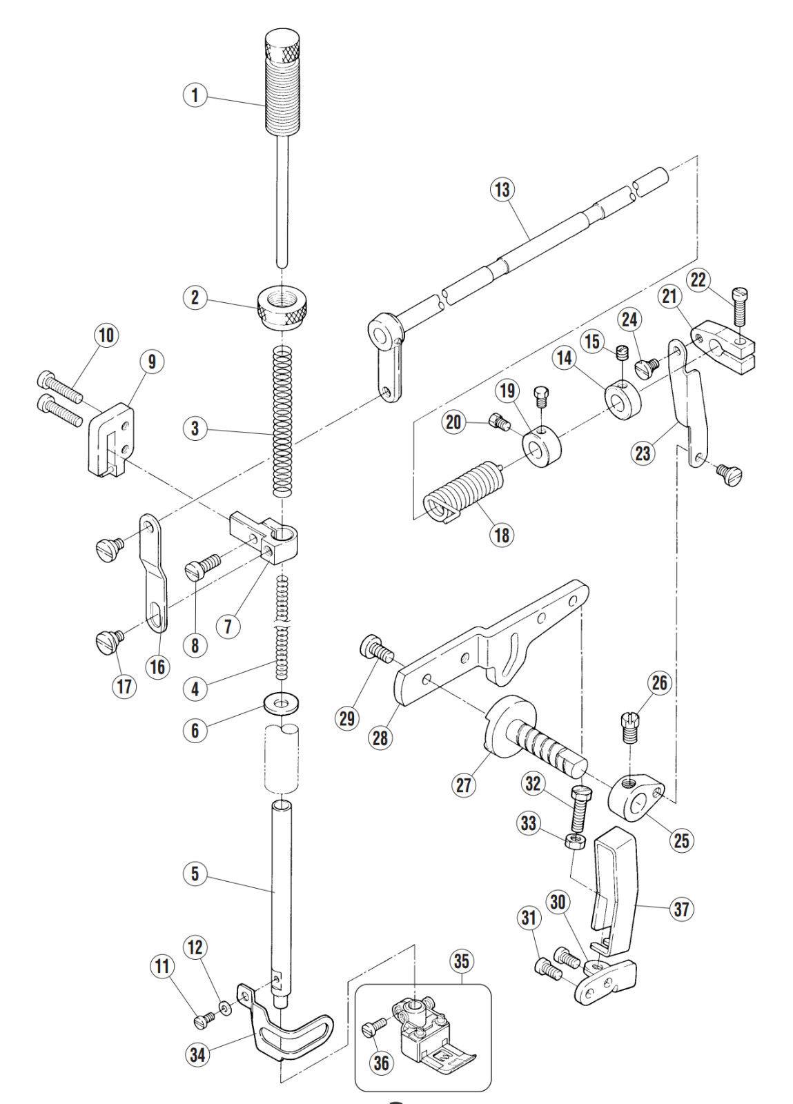 Presser Foot 6 4 Coverstitch Sewing Machine Pegasus Yamato
