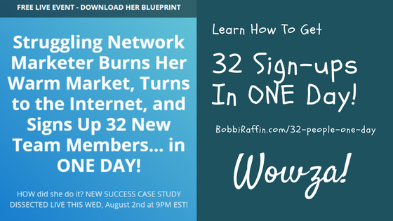 32 sign ups in one day-Mine