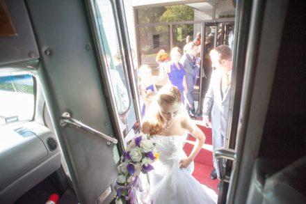 Bobbi Rose Photography - Melissa and Jason Wedding - Party bus!