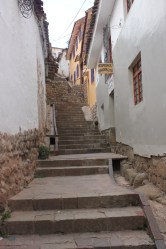 narrow stairs of San Blas