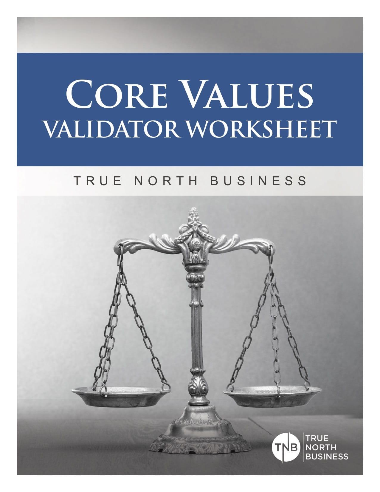 Core Values Validator Worksheet V2
