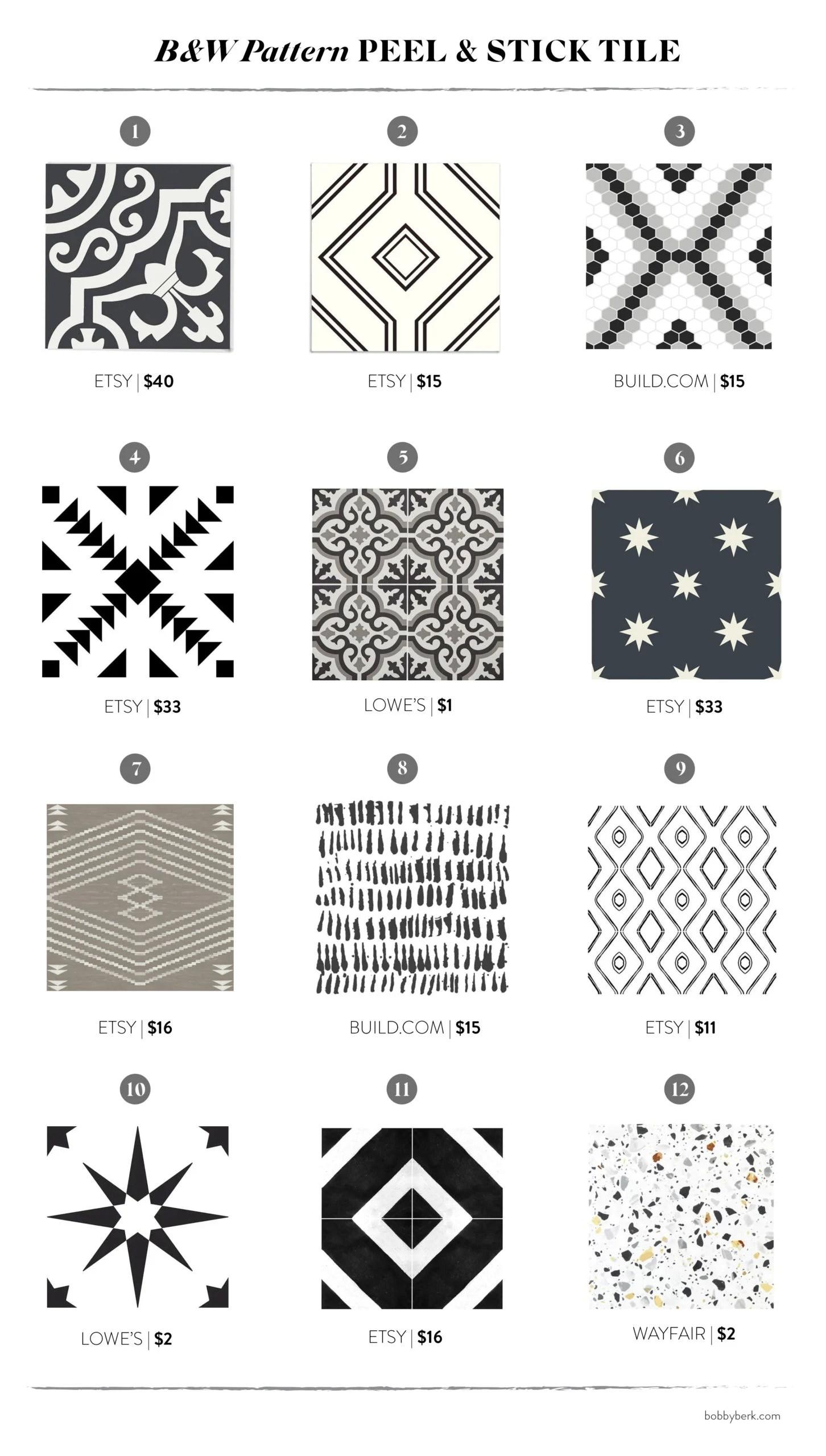 peel stick tile 36 affordable ways