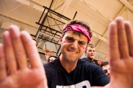 A Barr-Reeve fan poses for the camera. PHOTO BOBBY ELLIS