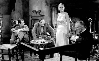 The Old Dark House (1932) Directed by James Whale Shown from left: Raymond Massey, Charles Laughton, Gloria Stuart, Ernest Thesiger