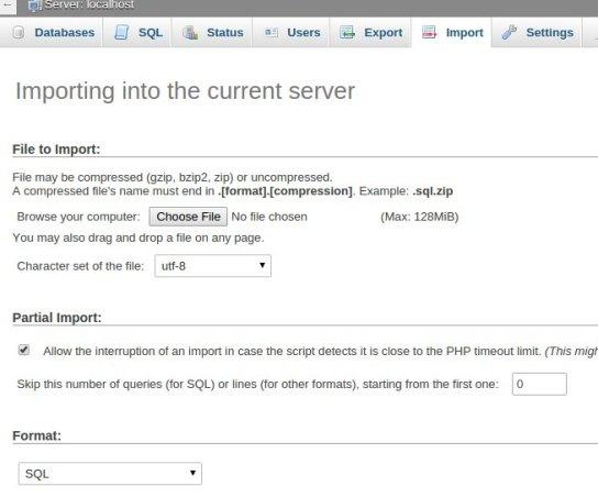 WordPress site - Importar banco de dados WordPress para o novo servidor