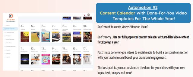 VideoDashboard - Automation #2 - Content Calendar