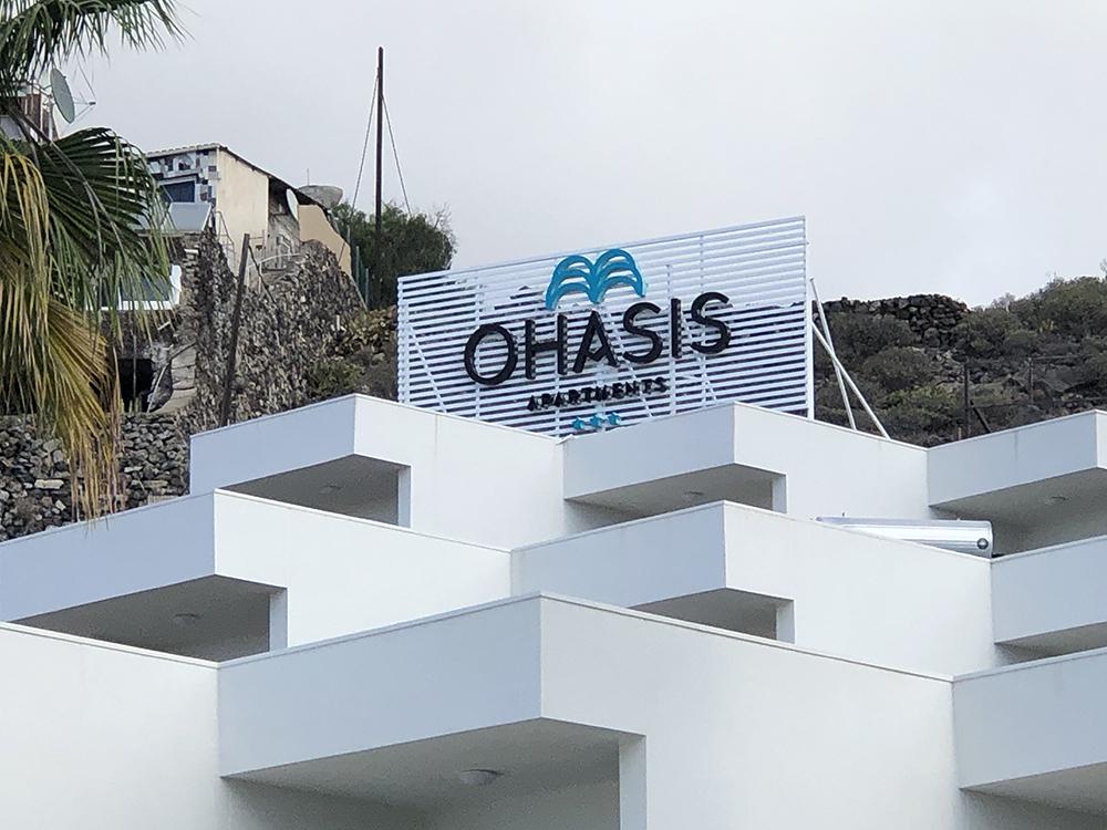 Hotel Ohasis- Rótulos Luminosos & Lamas Antieólicas