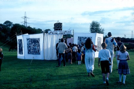 The Home-Made Circus - entering the theatre space