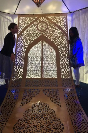 The Silk Road paper cut by Maryam