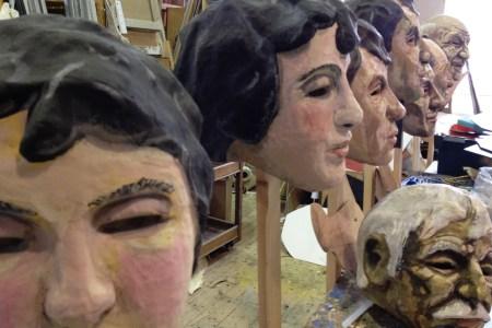 Masks in the workshop