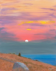 """Hillside Sunset"": Original SOLD"
