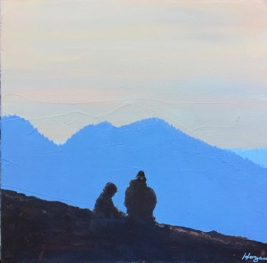 """Hikers Resting"": Original SOLD"
