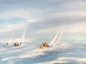 """""""Wind Racing"""":Original SOLD/Acrylic enhanced canvas mounted print available"""