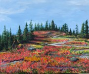 """""""Nature's Palette"""": """"24"""" x 18"""" acrylic original"""