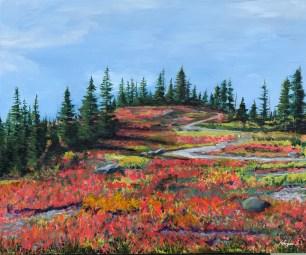 """""""Nature's Palette"""": """"24"""" x 18"""" acrylic original - $325"""