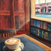 """I like my coffee with cream and my literature with optimism."" - Abigail Reynolds"