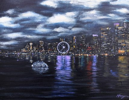 """""""At night, what you see is a city, because all you see is lights. By day, it doesn't look like a city at all. The trees out-number the houses. And that's completely typical of Seattle."""" – Jonathan Raban"""