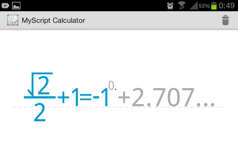MyScript Calc