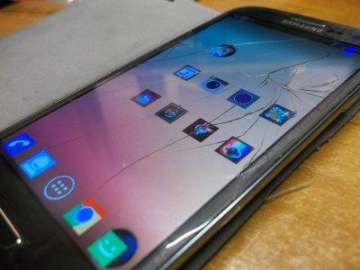 Samsung Galaxy S3 zpopękaną szybką