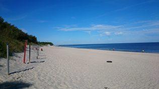 Na plaży wPogorzelicy