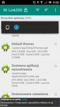 linkSD, by przenieść appki na karde microSD